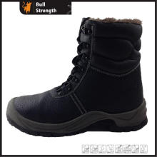 Genuine Leather with Fur Lining Safety Winter Boot (SN1558)