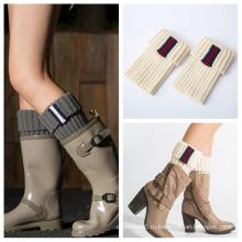 Женщины Леди Колено Высокие Зимние Ноги Вязаные Шерстяные Гольфы Бедро Высокие Носки Грелки Ноги