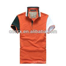13PT1047 Cotton short sleeve mens striped polo shirt