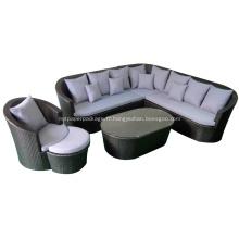 Canapé en rotin façon loisirs avec base en aluminium