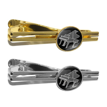 Unik Novelty Piano Player Tie Clip