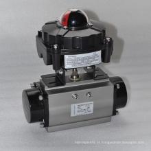 China fez preço barato de alta qualidade válvula de esfera elétrica com APL2N caixa de comutação limitada por indicador de sinal