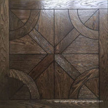 Dark Satin Brushed Oak Parquet Flooring