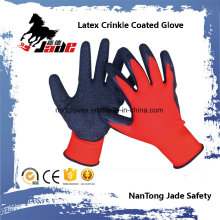 13G Nylon Palm Latex Crinkle Coated Safety Glove