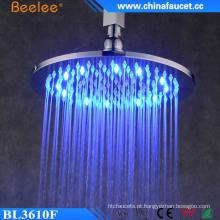 Cabeça de chuveiro superior da luz do diodo emissor de luz da precipitação do cromo do bronze 10 ′