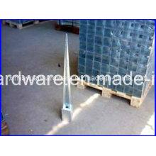 Âncora de terra de parafuso de concreto galvanizado, âncora de poste para fixar poste