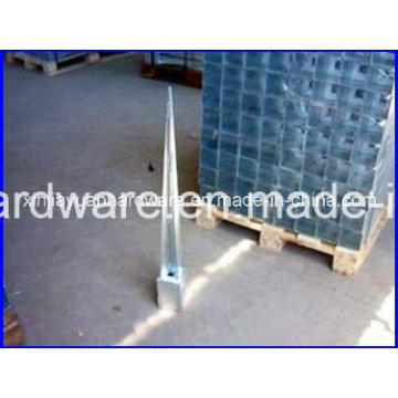 Ancrage de terre à vis en béton galvanisé, ancre de poteau pour attacher le poteau