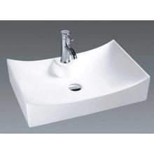 Lavabo de cerámica del cuarto de baño de la tapa del precio bajo (7097)