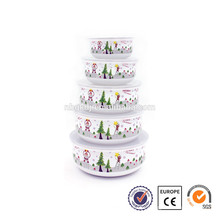 5 pcs enamelware natal promocional presente tigela