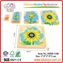 Wooden Puzzle Toy Factory Sunflower Growth Puzzle