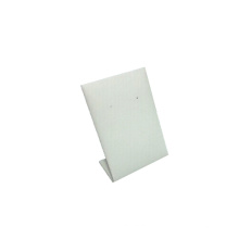 Soporte de exhibición vertical al por mayor de la joyería del pendiente del metal de la PU blanca (HE-1)