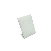 Оптовая Белый PU вертикальный металл серьги ювелирные изделия Дисплей стенд (он-1)