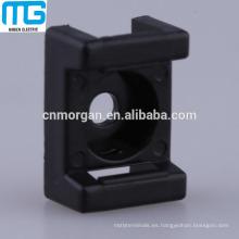 Cable de sillín blanco de 2 vías Base de montaje central con nylon aprobado UL, UL94-V2, disponible en blanco y negro