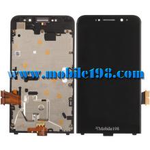 Pantalla LCD y pantalla táctil con marco para Blackberry Z30