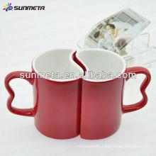11oz couple sublimation couple mug lovers mugs color blue