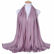 Trends Elegant Solid Color rosa Print plain langen muslimischen Frauen Jersey Schal-mit Diff Farben