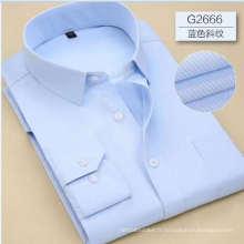 Chemise habillée en tissu cvc dobby pour homme