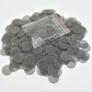 Filtros de metal de fumo dos acessórios do tabaco de aço inoxidável de 19MM Gauze cabidos para a tubulação de água 100X