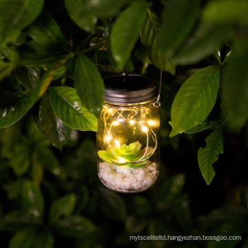 Solar Lantern Lights, Hanging Solar Mason Jar Lid Lights