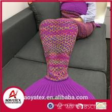 Promotion Geschenk Soft Mermaid Tail Decke für Erwachsene und Kinder