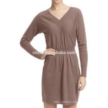 15JWT0113 femme pull en cachemire de coton d'été robe