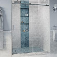 Seawin Aluminium hardware Frameless Sealing Strip Handle Towel Single Glass Sliding Shower Door