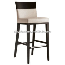 White fabric soild wooden bar chair XYH1053