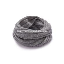 Novo design de pescoço pescoço cachemira estilo chunky inverno tricotado cachecol redondo snood neck