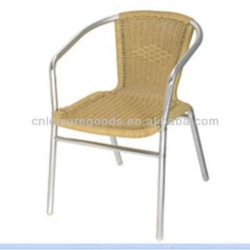 silla de aluminio ligera de ratán Bistro