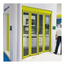 exterior automatic folding sliding glass door system mechanism for office buildings