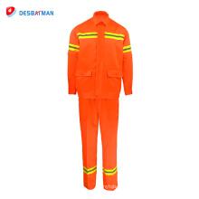 Bata de trabajo del algodón, ropa de trabajo de la industria del gas del aceite, bata resistente al fuego de la seguridad