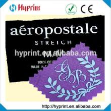 heat transfer label for garment size label, main labels, content label, care label