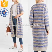 Креп-филенчатые Жаккардовое пальто Производство Оптовая продажа женской одежды (TA3037C)