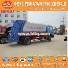 DONGFENG 4x2 12 M3 rubbish compactor truck with pressing mechanism diesel engine 190 hp