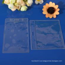 Soporte de tarjeta de identificación de plástico transparente