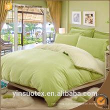 70 / 90GSM polyester brossé tissu de couleur unie couleur chambre à coucher taille king