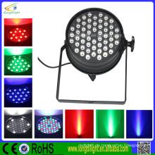 Professionelle DJ-Beleuchtung 54pcs 1W RGB führte dünne Par kann Licht beeinflussen