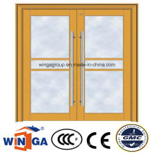 Pushed Security Metal Steel Glass Door for Shop Using (W-GD-30)