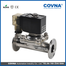 Two position two way solenoid valve for food grade