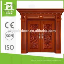 Nuevo diseño de hoja doule cobre imitación puerta de seguridad hecha en China