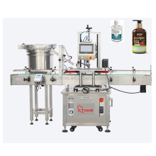 Automatic 4 wheels capping machine/capper with elevator