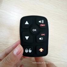 Modifique el teclado para requisitos particulares de la goma de silicona del grabado del grabado del laser que talla la marca