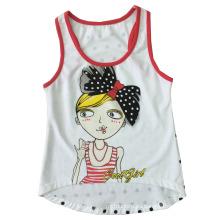Chaleco de punto de chica de moda hermosa en camiseta de niña con camisola (SV-029)