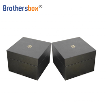 Custom gift boxes High quality piano black packaging men watch case box
