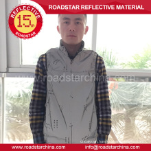 Customized silver reflective riding jacket
