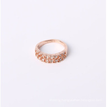 Rose Gold Simple Style Jewelry Ring with Rhinestones