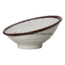 100%Melamine Dinnerware-Bowl with One High Side /Melamine Dinnerware (CSA76)