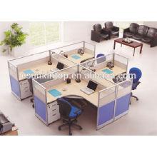 T shape office desk for stuff, Melamine office furniture desk for sale (KW920)