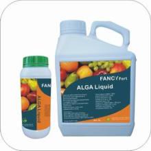 100% de adubo orgânico líquido de algas na agricultura