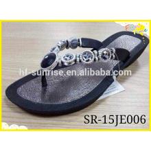 Senhoras de alta qualidade Flip Flop Slipper, prata